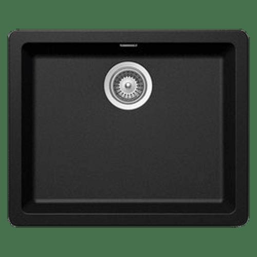 ABEY SCHOCK 490MM CRISTADUR BLACK  SINGLE BOWL SINK - N120B