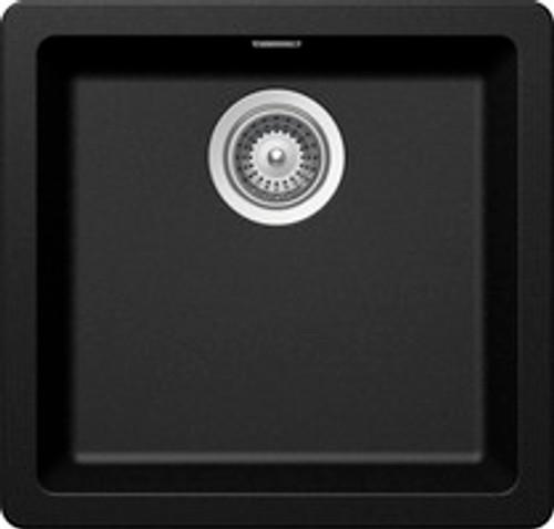 ABEY 390MM SCHOCK CRISTADUR BLACK SINGLE BOWL SINK - N100SB