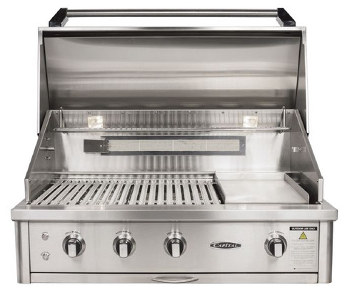 """CAPITAL 40"""" BUILT IN HOODED BBQ WITH OPEN GRILL - ACG40RBI.1 N/L"""