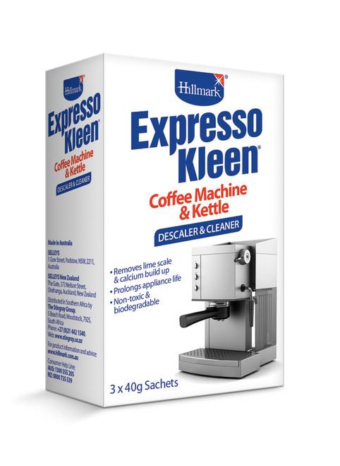 HILLMARK ESPRESSO KLEEN KETTLE & COFFEE MACHINE DESCALER- H67