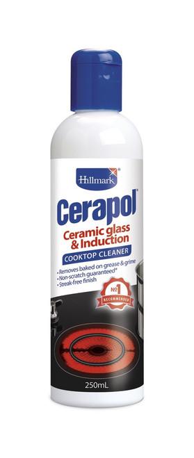 HILLMARK CERAPOL 250ml CERAMIC GLASS COOKTOP CLEANER - H84