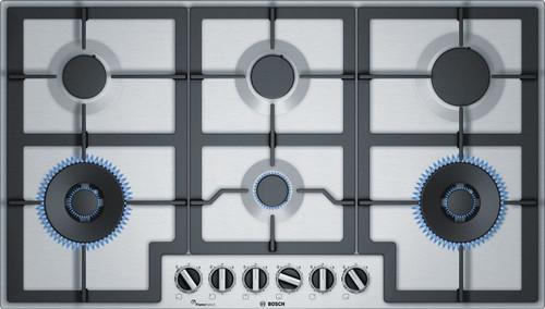 BOSCH 90CM GAS COOKTOP - 6 BURNER - 19MJ WOK - SERIES 6 - PCT9A5B90A