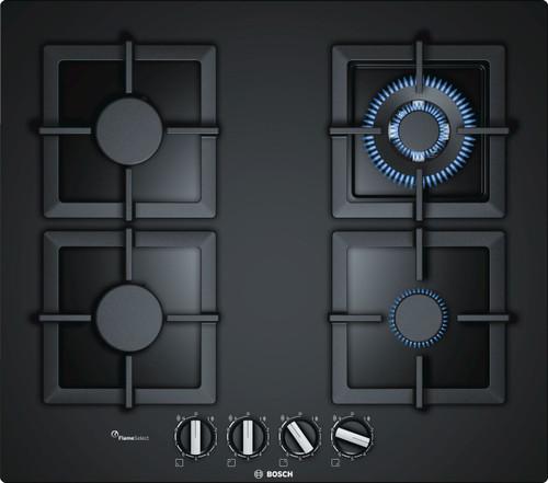 BOSCH 60CM BLACK GAS ON GLASS COOKTOP - 14MJ WOK - SERIES 6 - PPH6A6B20A