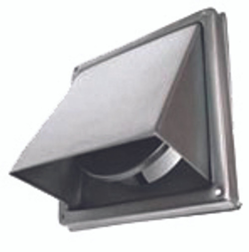DEFLECTO KENSINGTON HOODED STAINLESS STEEL WALL VENT - 150mm - HVSS150