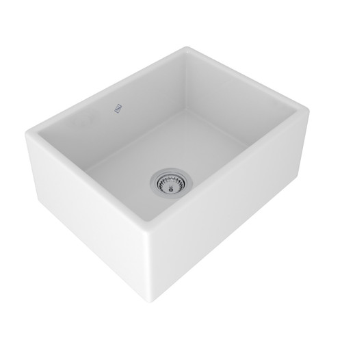 SHAWS CLASSIC SHAKER 595mmD WHITE FIRECLAY SINGLE BOWL SINK - SCSH600WH