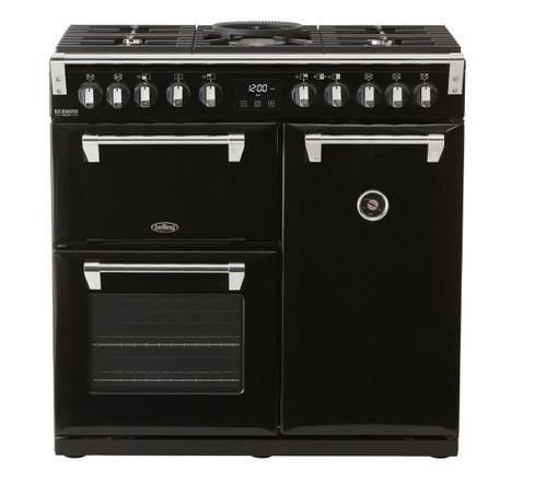 BELLING 90CM RICHMOND DELUXE DUAL FUEL COOKER - SPLIT OVENS - BRD900DF + Standard Colour