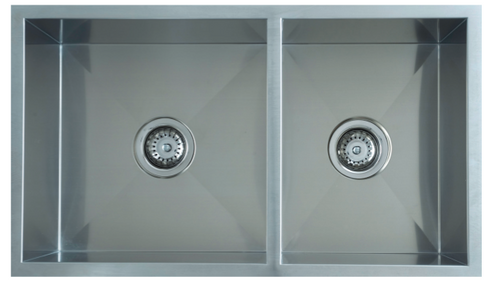 UPTOWN SQUARE DOUBLE BOWL SINK - 250mmD - UTS1.75/UTR1.75