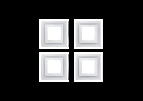 SCHWEIGEN.IN SILENT CASSETTE RANGEHOOD X FOUR(4) IN WHITE - CC-PARA4W