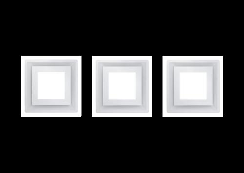 SCHWEIGEN.IN SILENT PARADIGMA CASSETTE RANGEHOOD X THREE(3) IN WHITE - CC-PARA3W