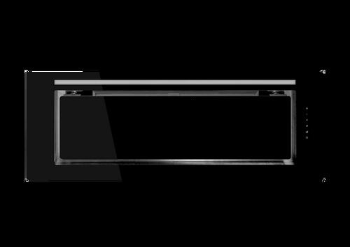 SCHWEIGEN.IN 90CM SILENT BLACK GLASS CONCEALED RANGEHOOD - KLS-9GLASSBLKS