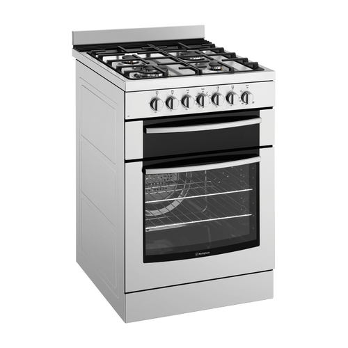 WESTINGHOUSE 60CM STAINLESS STEEL  ELECTRIC GAS HOB FREESTANDING OVEN - WFE619SA