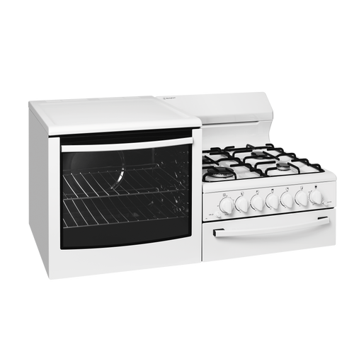 WESTINGHOUSE ELEVATED GAS FREESTANDING COOKER 4 ZONE OVEN - WDG101WB