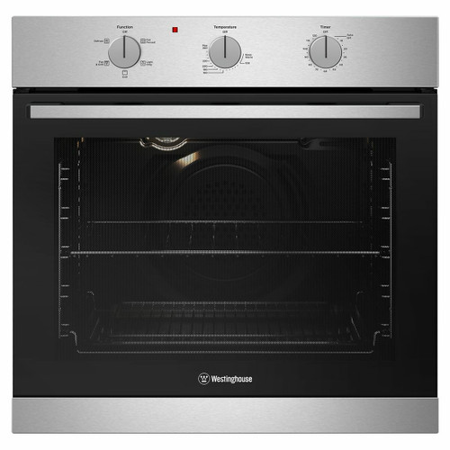 WESTINGHOUSE 60CM STAINLESS STEEL MULTI-FUNCTION OVEN - WVE614SC