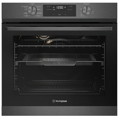 WESTINGHOUSE 60CM DARK STAINLESS STEEL MULTI-FUNCTION OVEN WITH AIRFRY - WVE617DSC