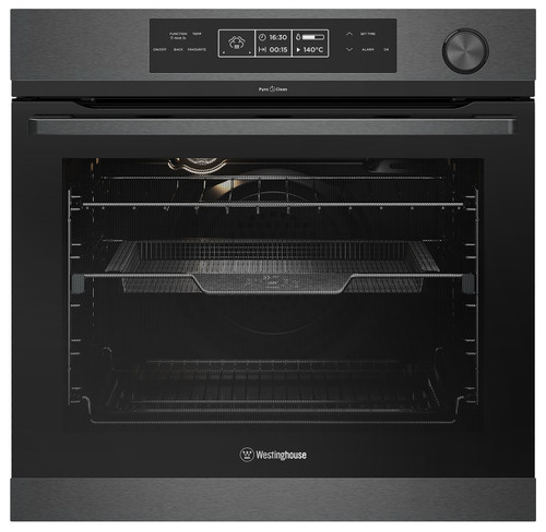WESTINGHOUSE 60CM DARK STAINLESS STEEL PYROLYTIC MULTI-FUNCTION WITH STEAM ASSIST OVEN - WVEP618DSC