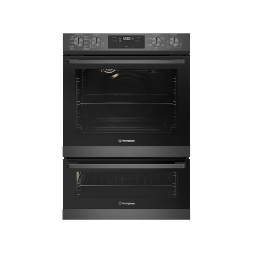 WESTINGHOUSE 60CM DARK STAINLESS STEEL PYROLYTIC MULTI-FUNCTION 10/5 DUO OVEN - WVEP627DSC