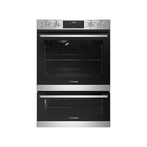 WESTINGHOUSE 60CM STAINLESS STEEL MULTIFUNCTION 8/5 DUO OVEN - WVE625SC