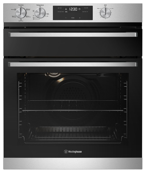 WESTINGHOUSE 60CM STAINLESS STEEL SEPARATE GRILL OVEN - WVE655SC