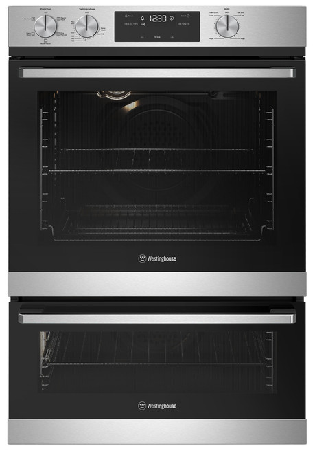 WESTINGHOUSE 60CM STAINLESS STEEL MULTI-FUNCTION WITH SEPARATE GRILL OVEN - WVE665SC