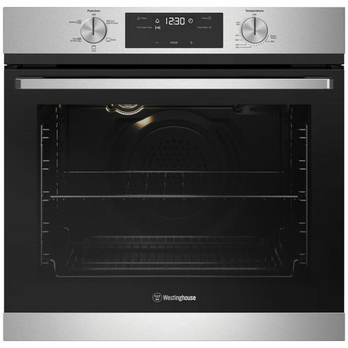WESTINGHOUSE 60CM STAINLESS STEEL MULTI-FUNCTION 5 GAS OVEN - WVG615SC