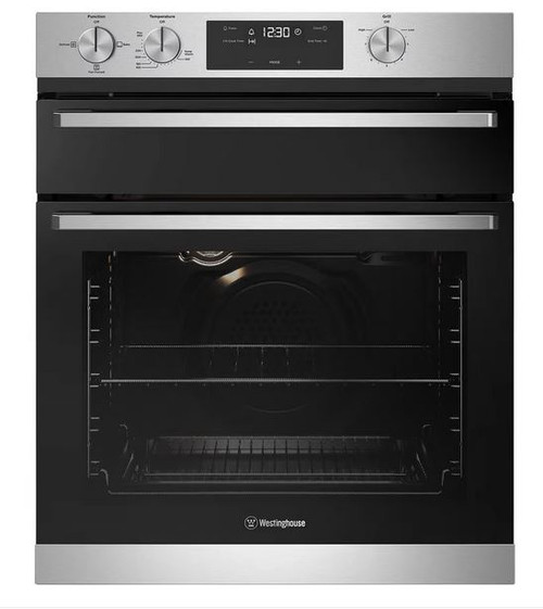 WESTINGHOUSE 60CM STAINLESS STEEL MULTIFUNCTION 3 STAINLESS STEEL GAS OVEN WITH  SEPARATE GRILL - WVG655SC