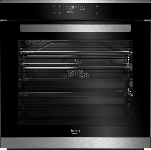BEKO 60cm STAINLESS STEEL SIDE VENTING STEAM AID STEAM CLEANING BUILT IN OVEN - BBO60B2SB