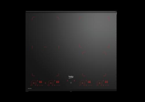 BEKO 60CM BLACK GLASS INDUCTION COOKTOP - BCT603IG