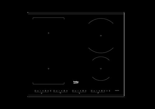 BEKO 60CM BLACK GLASS INDUCTION COOKTOP - BCT601IG