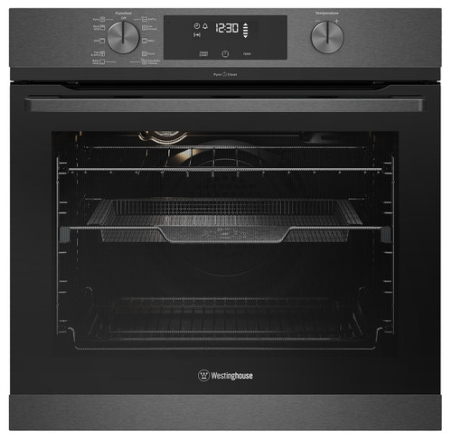 WESTINGHOUSE 60CM DARK STAINLESS STEEL PYROLYTIC WITH AIRFRY OVEN - WVEP617DSC