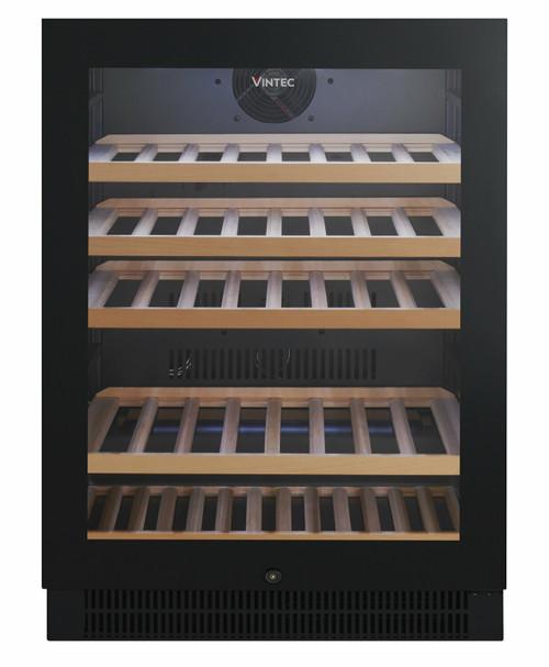 VINTEC 50 BOTTLE BLACK SINGLE ZONE WINE CABINET - VWS050SBB-X