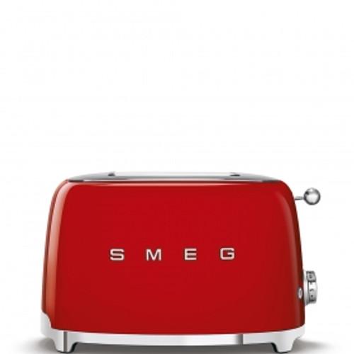 SMEG RED RETRO STYLE  2 SLICE TOASTER - TSF01RDAU