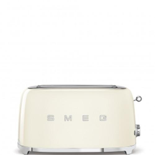 SMEG CREAM RETRO STYLE  4 SLICE TOASTER - TSF02CRAU