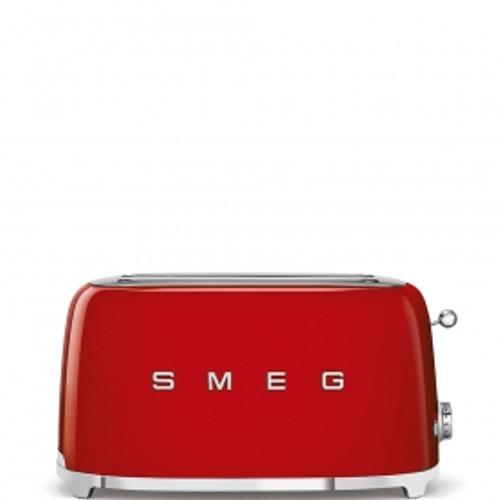 SMEG RED RETRO STYLE  4 SLICE TOASTER - TSF02RDAU