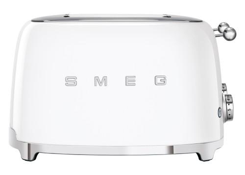 SMEG WHITE RETRO STYLE  4 SLICE EXTRA WIDE TOASTER - TSF03WHAU