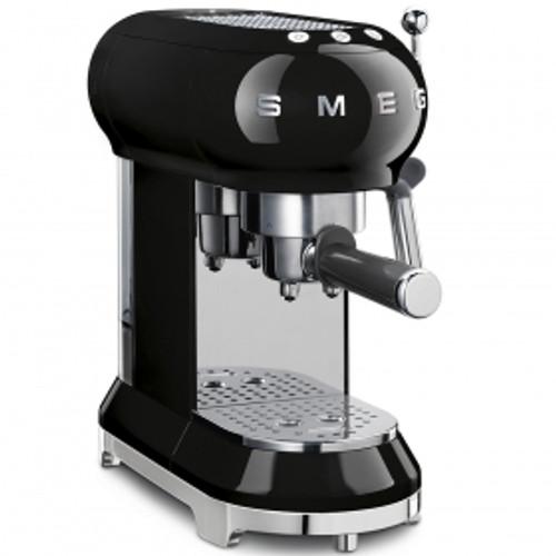 SMEG BLACK RETRO STYLE ESPRESSO COFFEE MACHINE - ECF01BLAU