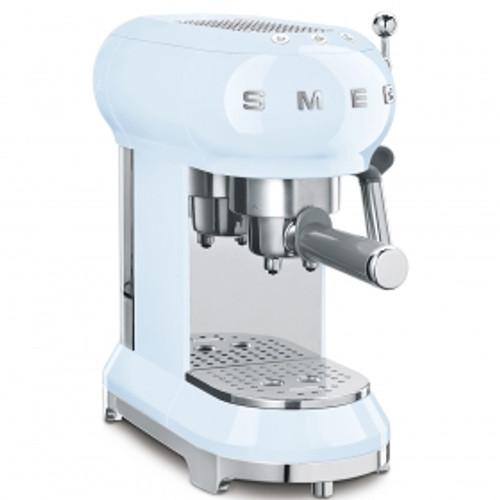 SMEG PASTEL BLUE RETRO STYLE ESPRESSO COFFEE MACHINE - ECF01PBAU