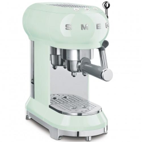 SMEG PASTEL GREEN RETRO STYLE ESPRESSO COFFEE MACHINE - ECF01PGAU