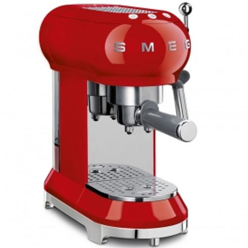 SMEG RED RETRO STYLE ESPRESSO COFFEE MACHINE - ECF01RDAU