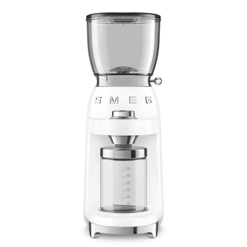 SMEG WHITE RETR0 STYLE COFFEE GRINDER - CGF01WHAU