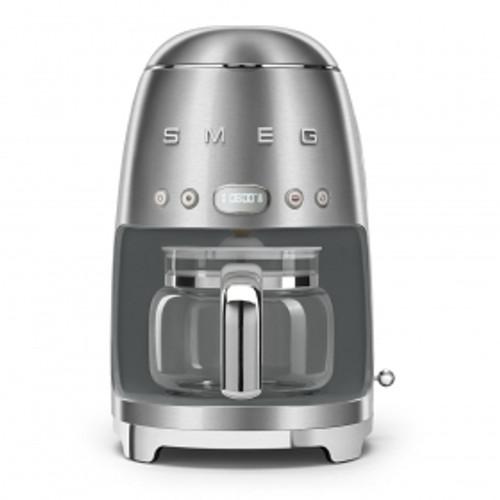 SMEG BRUSHED METAL RETRO STYLE DRIP COFFEE MACHINE - DCF02SSAU
