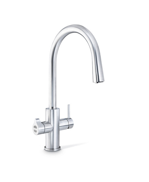 ZIP BRUSHED CHROME HYDROTAP CELSIUS ARC ALL-IN-ONE TAP - MT2792