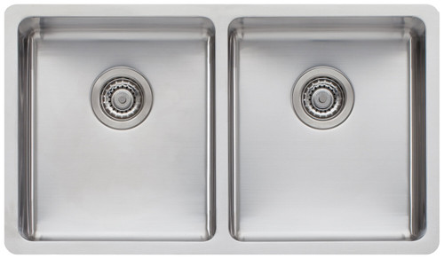OLIVERI SONETTO DOUBLE BOWL SINK WITH ACCESSORIES - SN63TU