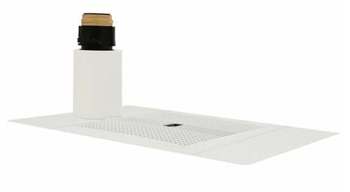 BILLI MATTE WHITE XI FONT WITH 70mm DISPENSER RISER - 992800MW