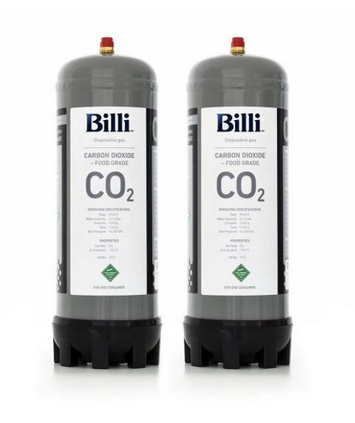 BILLI REPLACEMENT SPARKLING CO2 CYLINDER 2 PACK - 996912
