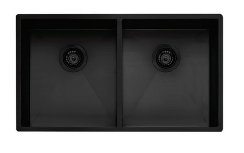OLIVERI SPECTRA DOUBLE BOWL SINK WITH ACCESSORIES - MULTI-INSTALL - SB63BK