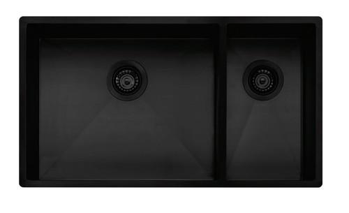 OLIVERI SPECTRA 1 & 1/2 BOWL SINK WITH ACCESSORIES - BLACK - SB35BK