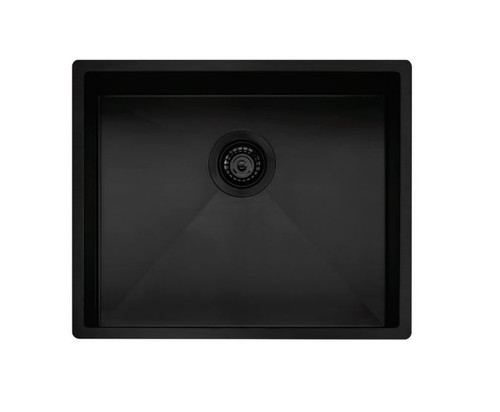 OLIVERI SPECTRA 500MM SINGLE BOWL SINK WITH ACCESSORIES - MULTI-INSTALL - SB50BK