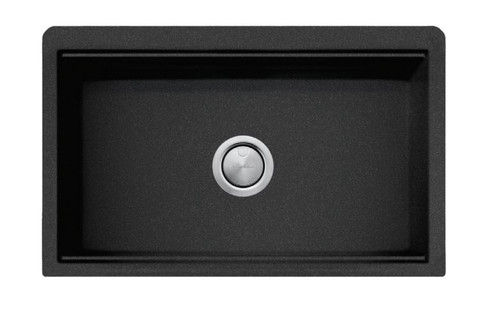 OLIVERI SANTORINI 840mm BLACK FARMHOUSE UNDERMOUNT SINK - ST-BL1584U