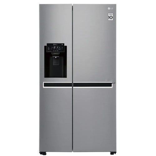 LG 625L STAINLESS SIDE-BY-SIDE FRIDGE/FREEZER - ICE & WATER - GS-L668PL