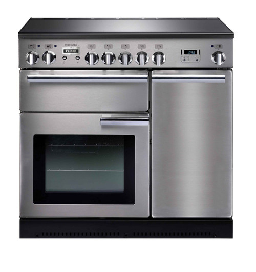FALCON 90CM PROFESSIONAL FREESTANDING OVEN WITH INDUCTION COOKTOP - SPLIT OVENS - PROP90EI5 (Black or Stainless)